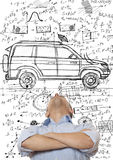 汽车设计员 库存图片