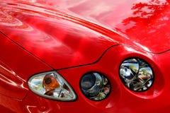 汽车详细资料点燃红色 图库摄影