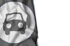 汽车起皱纹的旗子,文本的空间 库存照片