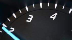 汽车车头表每个周详转速计特写镜头环绕 股票视频