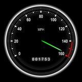 汽车车速表体育运动 免版税库存照片