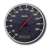 汽车车速表 皇族释放例证