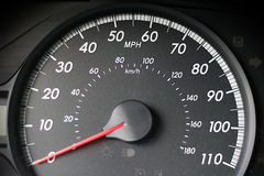 汽车车速表 图库摄影