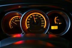 汽车车速表 免版税库存图片