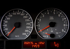 汽车车速表 免版税图库摄影