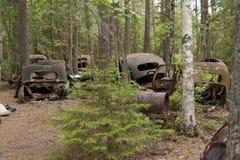 汽车转储在Kirkoe莫斯 库存图片