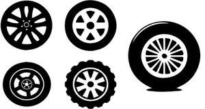 汽车轮子 向量例证