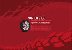 汽车轮胎背景 库存例证