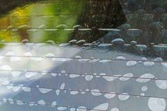 汽车过滤器影片的情况 在使用b结束时 免版税库存图片