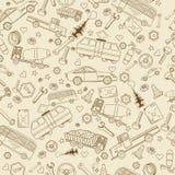 汽车运输无缝的传染媒介例证 免版税图库摄影