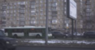 汽车通行在莫斯科,俄罗斯 减速火箭的样式录影 影视素材