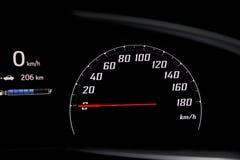 汽车速度计和英里引擎 图库摄影