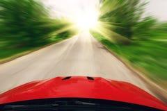 汽车速度驱动 免版税库存图片