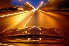 汽车速度 库存照片