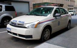 汽车邮政巡逻的警察 免版税库存照片