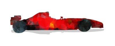 汽车配方赛跑 红色几何传染媒介 向量例证