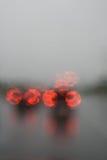 汽车重点多雨虚拟视图 免版税库存图片