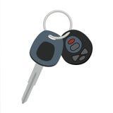 汽车钥匙传染媒介象设计 自动锁开启者和信号keyc 库存例证