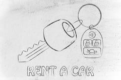 汽车钥匙的例证与遥控的 库存图片