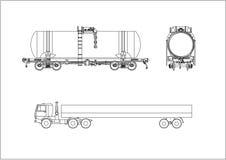 汽车铁路运输向量无盖货车 免版税库存照片