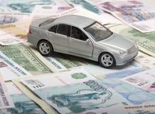 汽车银色玩具 免版税图库摄影