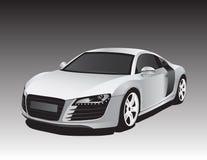 汽车银 向量例证