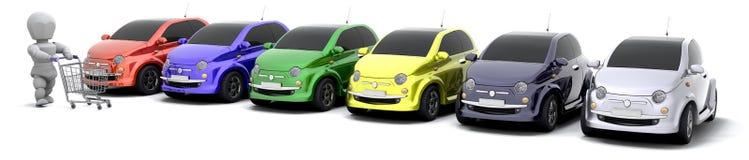 汽车销售额 库存例证