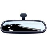 汽车镜子和路1 向量例证