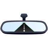 汽车镜子和路2 皇族释放例证