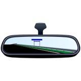 汽车镜子和路6 皇族释放例证