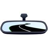 汽车镜子和路3 皇族释放例证