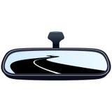 汽车镜子路 向量例证