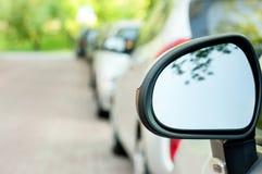 汽车镜子 免版税图库摄影