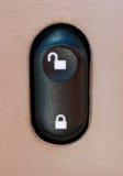 汽车门锁电源开关 库存照片