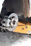 汽车闸圆盘的被修理的设备 免版税库存照片