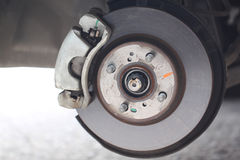 汽车闸圆盘的被修理的设备 免版税库存图片