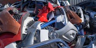 汽车防撞器堆 免版税库存照片