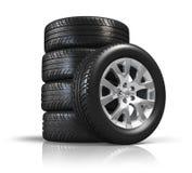 汽车集合轮子 向量例证