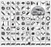 汽车零件、工具和辅助部件 免版税库存照片