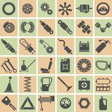 汽车零件、工具和辅助部件 免版税库存图片