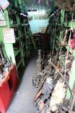 汽车零件在加尔各答存放 库存照片