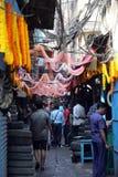 汽车零件在Malik市场存放在加尔各答 免版税库存图片