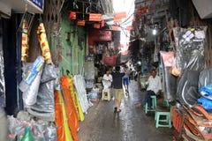 汽车零件在Malik市场存放在加尔各答 图库摄影