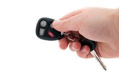 汽车项无键的远程证券启动程序 库存图片