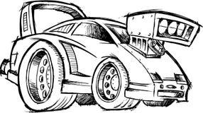 汽车马力强大的种族汽车概略向量 向量例证