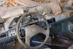 汽车驾驶舱捣毁的击毁 免版税库存图片