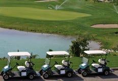 汽车高尔夫球 免版税图库摄影