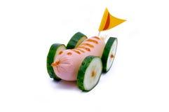 汽车黄瓜标志鲜美绿色的香肠 库存图片