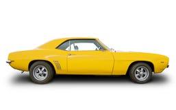 汽车黄色 免版税图库摄影