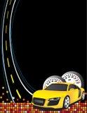 汽车黄色 皇族释放例证
